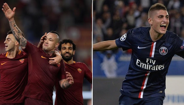 Roma vs PSG en vivo