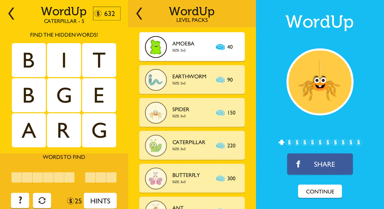 Word Tower brain games for iPhone
