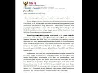 Resmi !!! BKN Terbitkan Siaran Pers Persiapan Penerimaan CPNS 2018