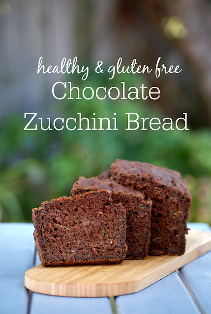 Healthy Chocolate Zucchini Bread Recipe - low fat, gluten free, clean eating recipe, refined sugar free, healthy, dairy free