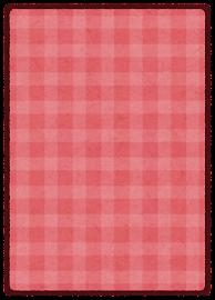 トレーディングカードのテンプレート(裏・赤)