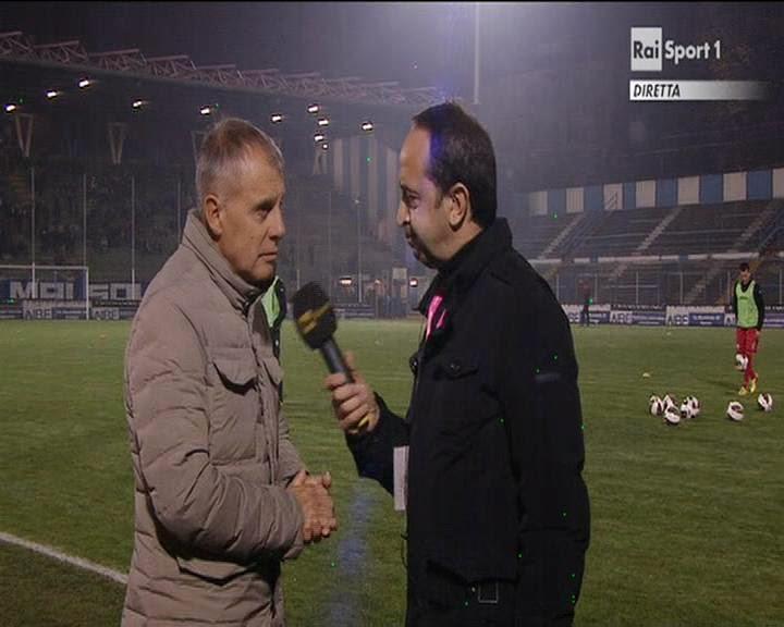 Mr Braglia ai microfoni di Rai Sport. fotosportnotizie.com