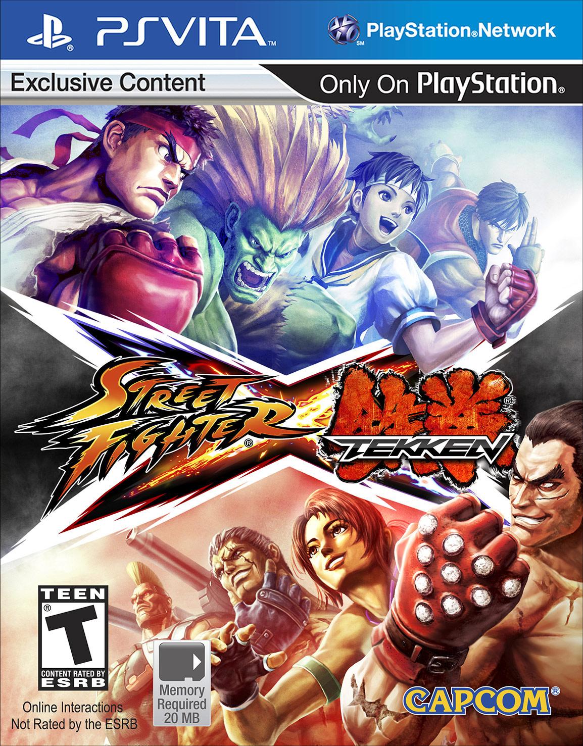 Fightvg Quick Pic Street Fighter X Tekken Ps Vita Box Art