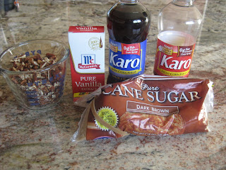 ingredients for pecan praline sauce