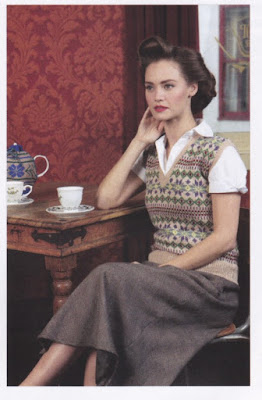 1940s style Fair Isle pullover