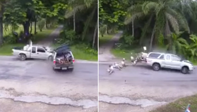 Freak Accident in Krabi, Southern Thailand caught on video