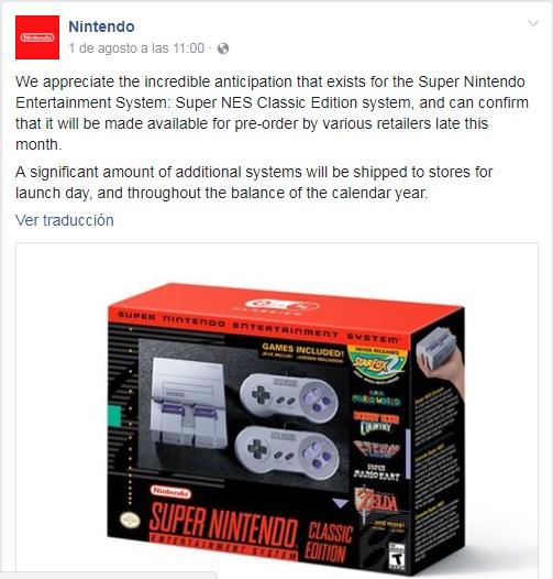 SNES Classic Edition Nintendo