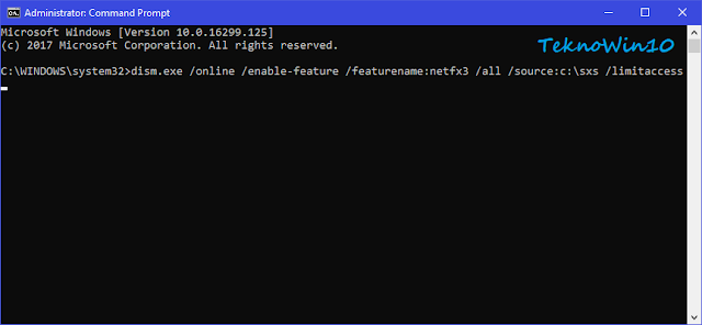 Perintah install net framework 3.5 offline