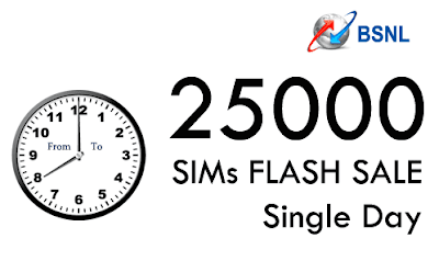 BSNL SIMs 25000 Flash Sale