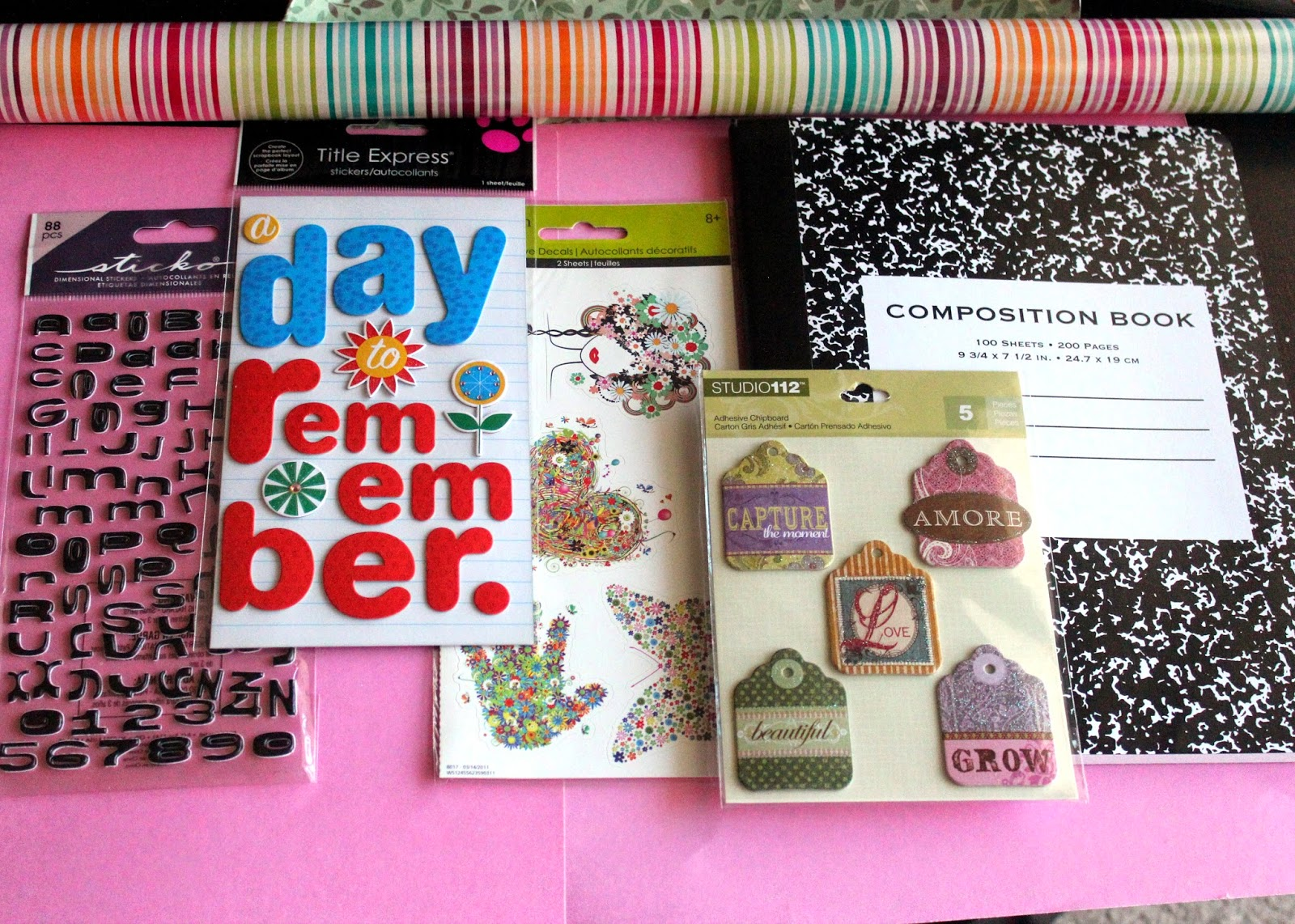 How to make a gratitude journal with scrapbook paper and stickers