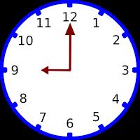 Gambar jam pukul 09.00