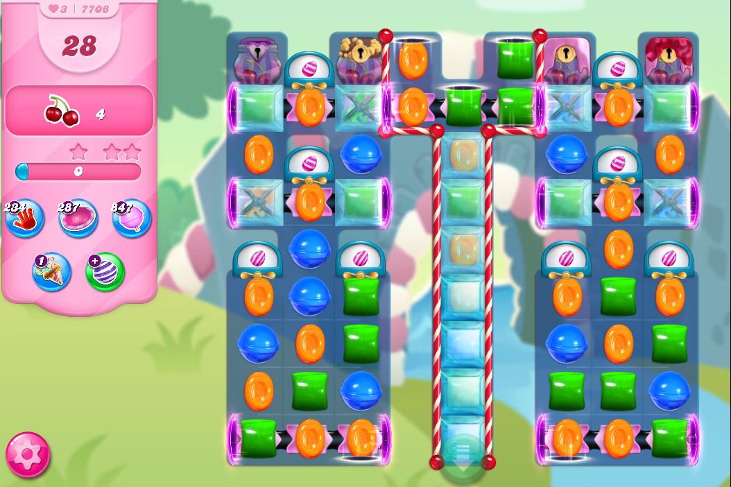 Candy Crush Saga level 7706