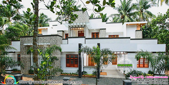 Beautiful contemporary finished Kerala home