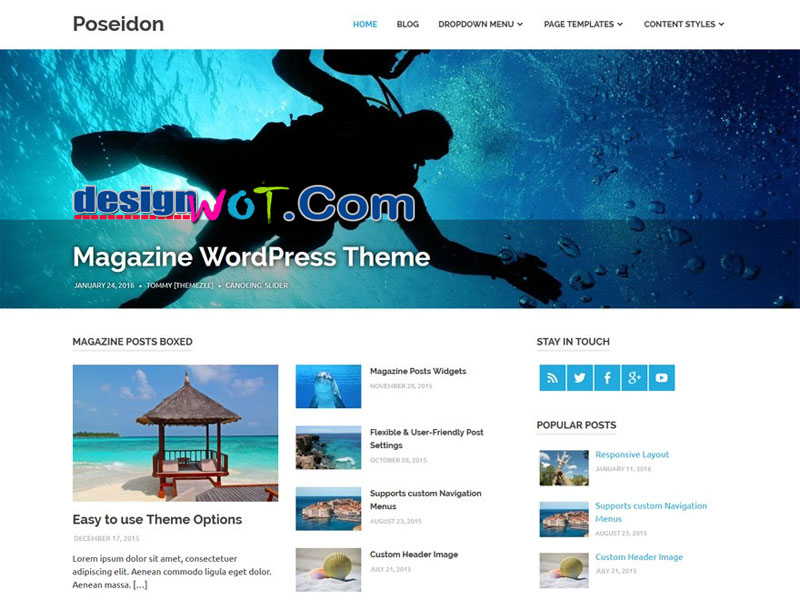 Poseidon Elegan Designed WordPress Theme