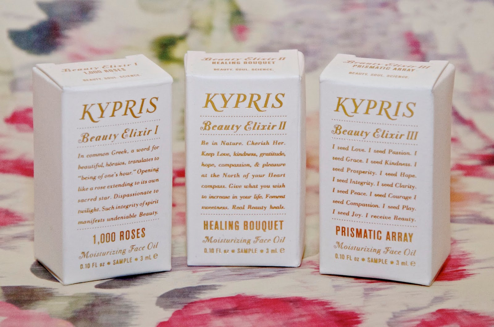 Kypris Beauty Elixir face oils