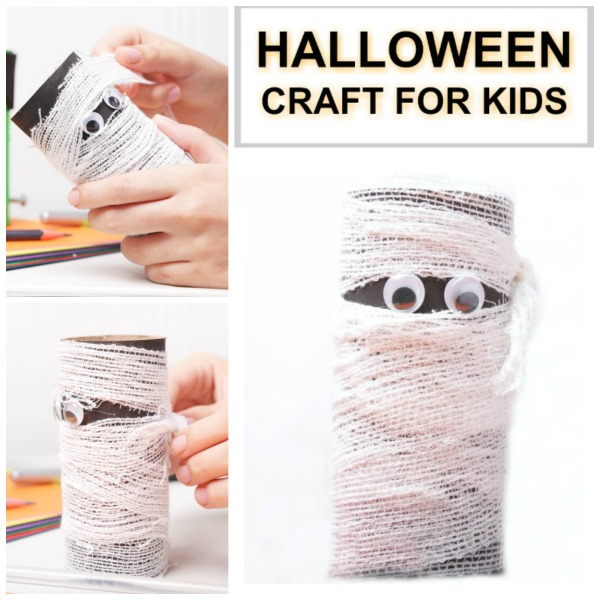 CARDBOARD TUBE MUMMY CRAFT FOR KIDS