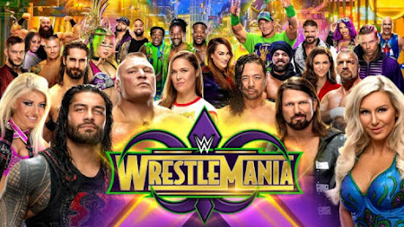 Poster Of WWE WrestleMania 34 KickOFF 8th April 2018 HDTV 480P 300MB