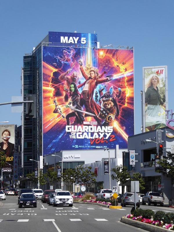 Giant Guardians of the Galaxy 2 billboard