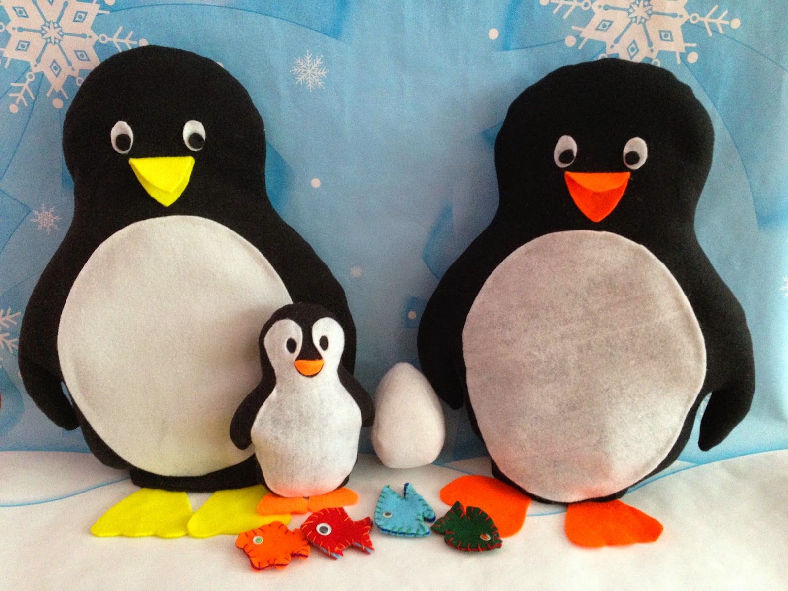 March of the Penguins sewing pattern