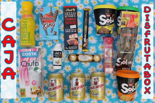Caja mensual de comida y cosmetica disfrutabox