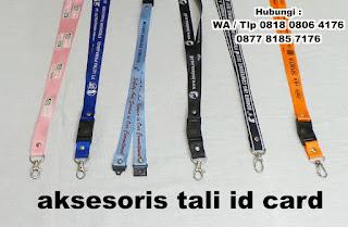 Tali ID Card 2cm Sablon logo / Lanyard Tali Name Tag nylon