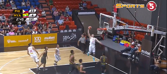 Kobe Paras' NASTY Slam Against Myanmar (VIDEO) SEA Games 2017