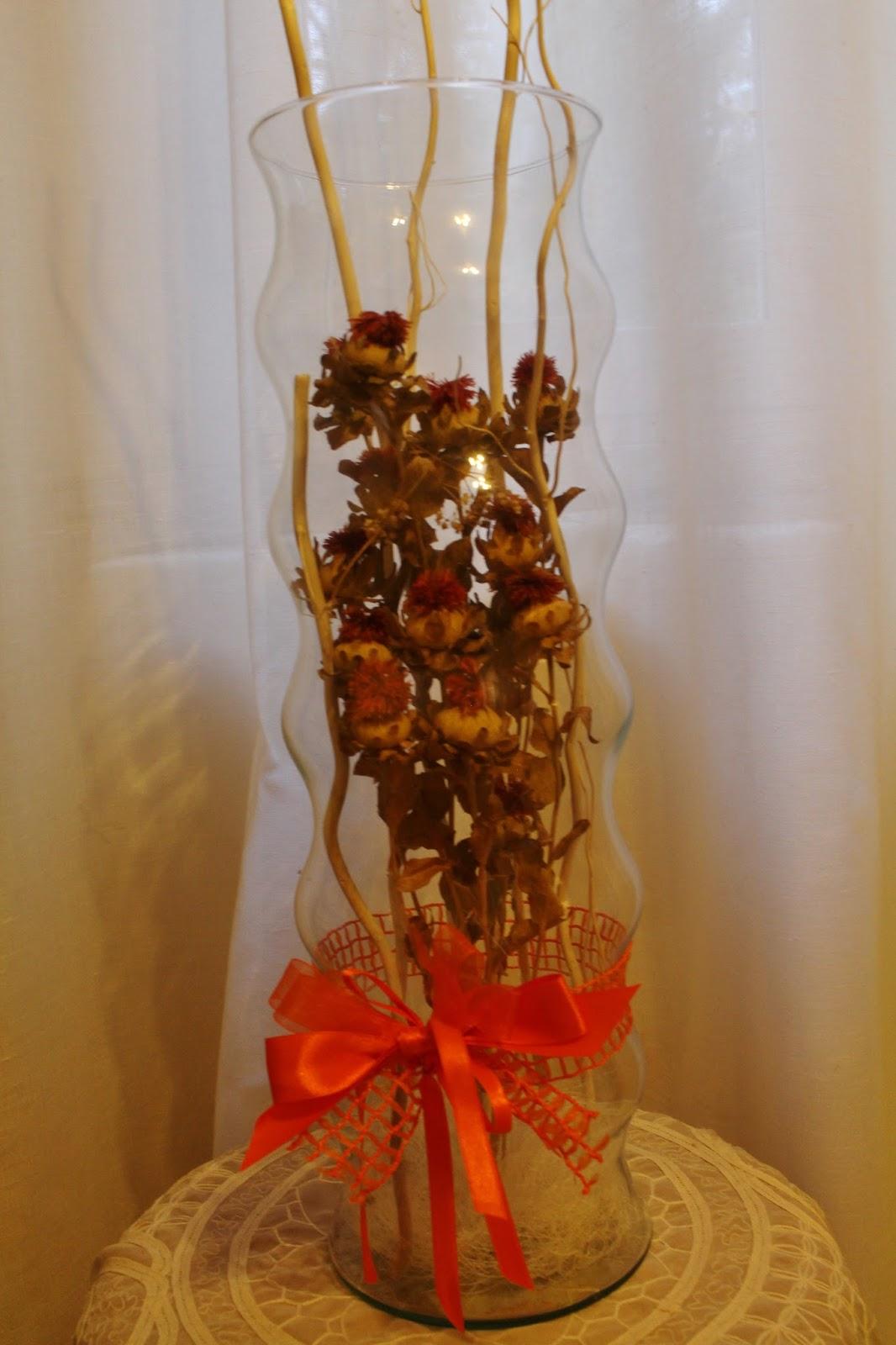 La granja di adriana fiori secchi in vasi di vetro for Composizioni natalizie in vasi di vetro