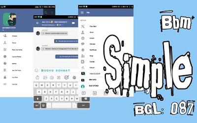 Download Tema BBM MOD Simple v3.3.6.51 APK Versi Terbaru