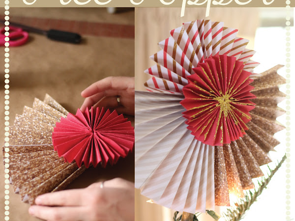 Make Your own Paper Pinwheel Tree Topper!