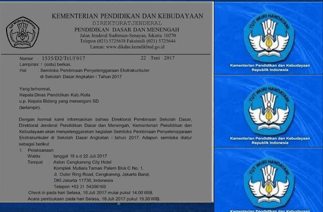Surat Semiloka Nasional angkatan 1 tahun 2017