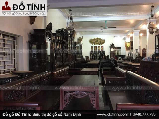 Siêu thị đồ gỗ cổ Nam Định - Trưng bày các sản phẩm bàn ghế cổ xưa