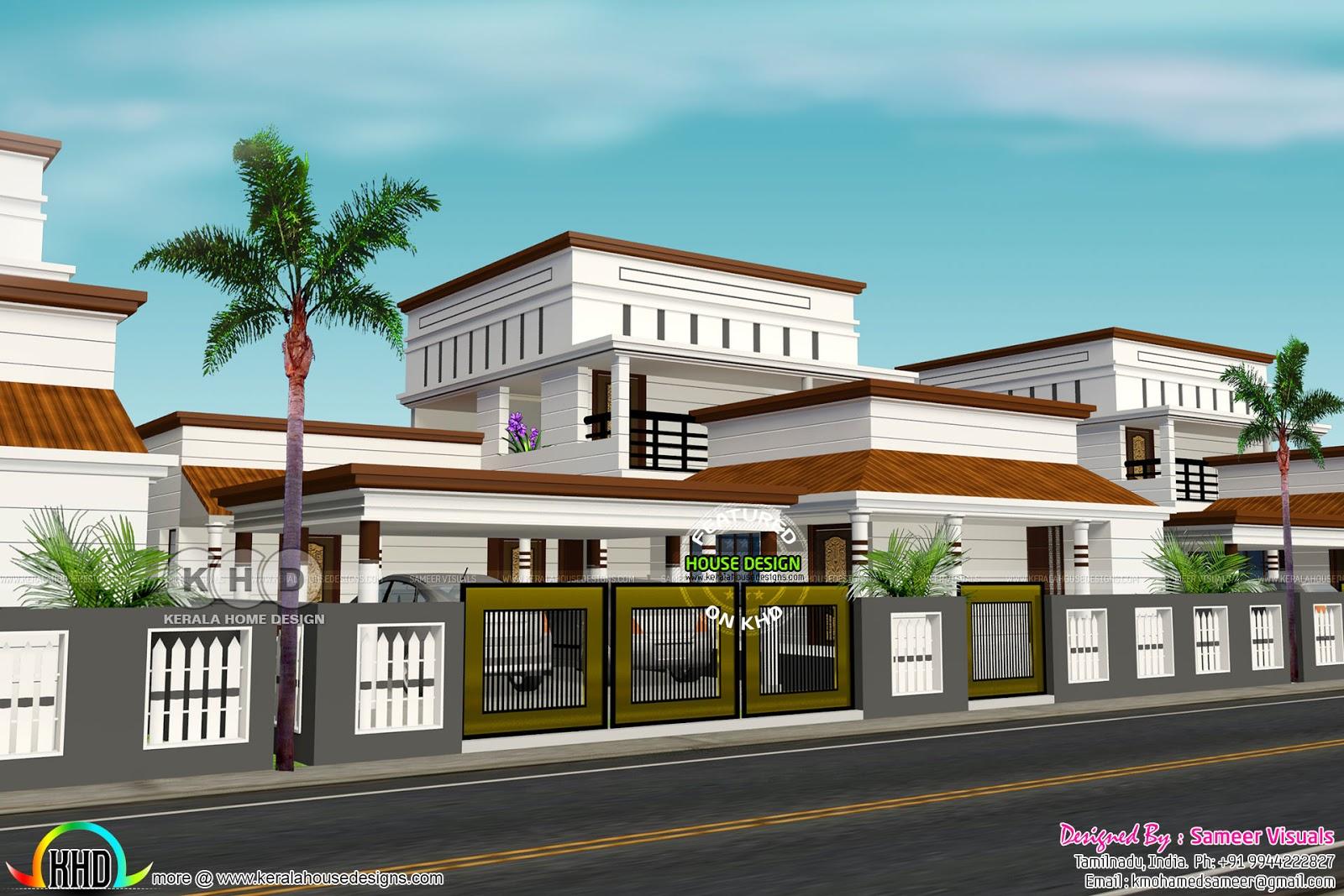 4 Bedroom 2400 Sq Ft Tamilnadu House Kerala Home Design And Floor Plans 8000 Houses