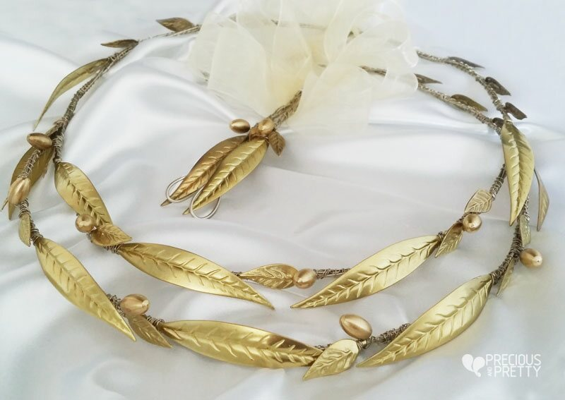 Ancient greek style crowns wedding stefana