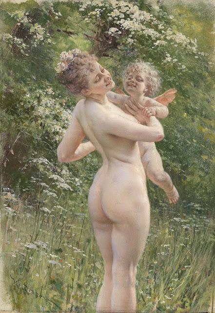 Heinrich Lossow - Sussurri d'amore - erotismo - arte
