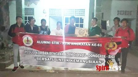 Alumni PTIK 61, Peduli Korban Bencana Tsunami/Gempa di Palu dan Donggala