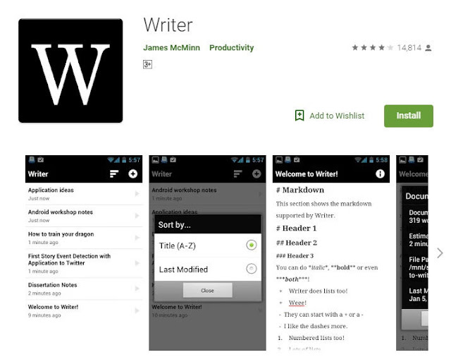 Writer App For Bloggers on Google Play