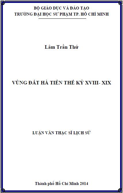 Vùng đất Hà Tiên thế kỷ XVIII – XIX