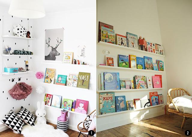 Hogar diez 20 ideas para aprovechar los huecos en tu hogar - Estanteria pared infantil ...