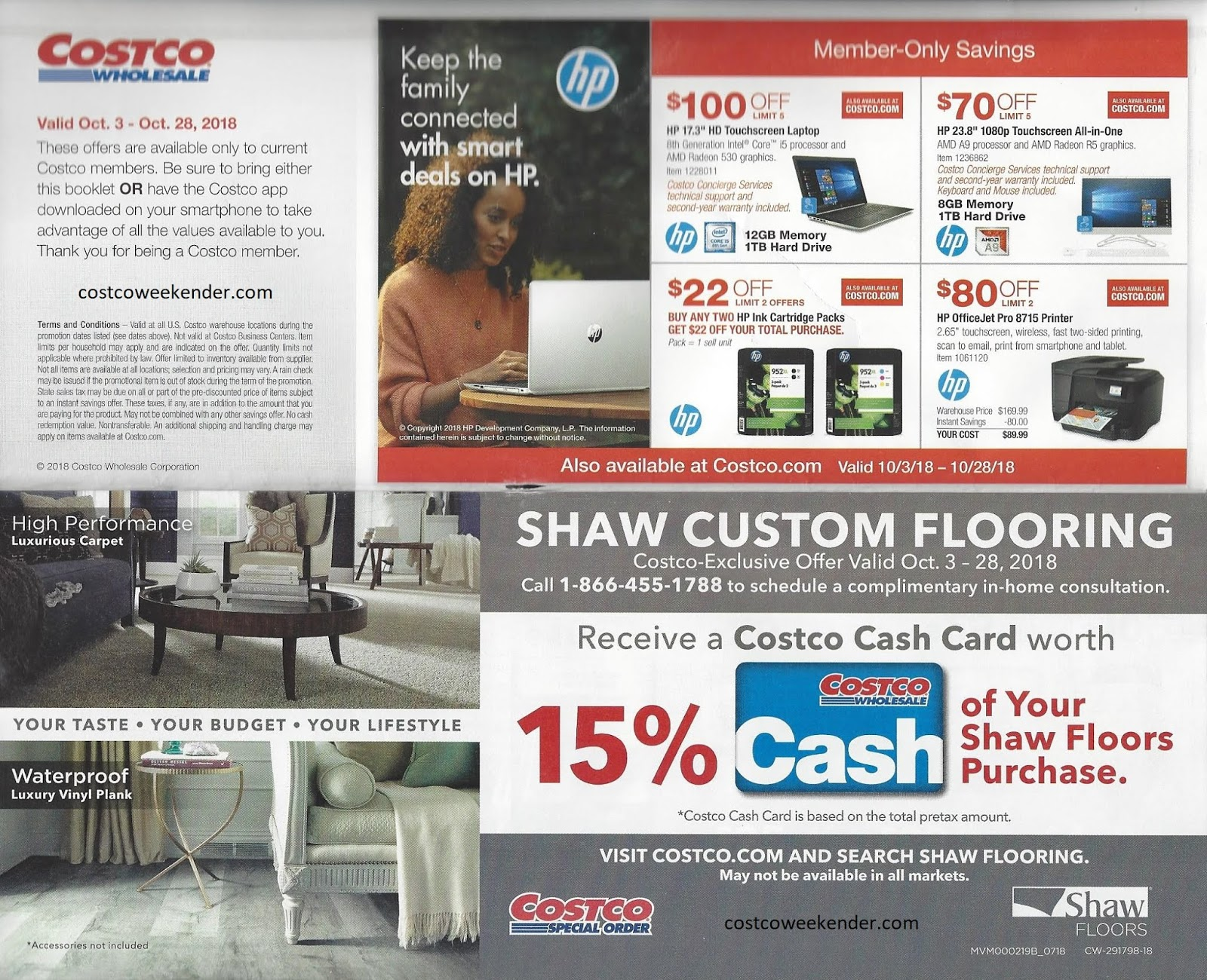 Costco October 2018 Coupon Book | Costco Weekender