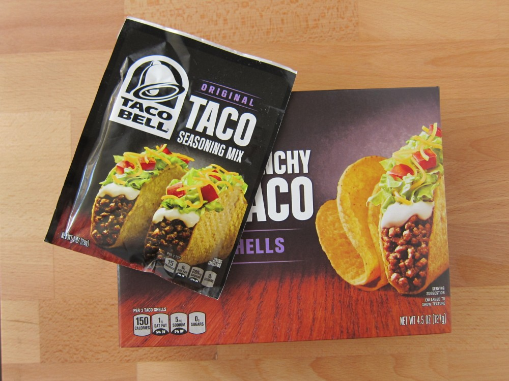 Review Taco Bell Taco Seasoning And Crunchy Taco Shells Brand