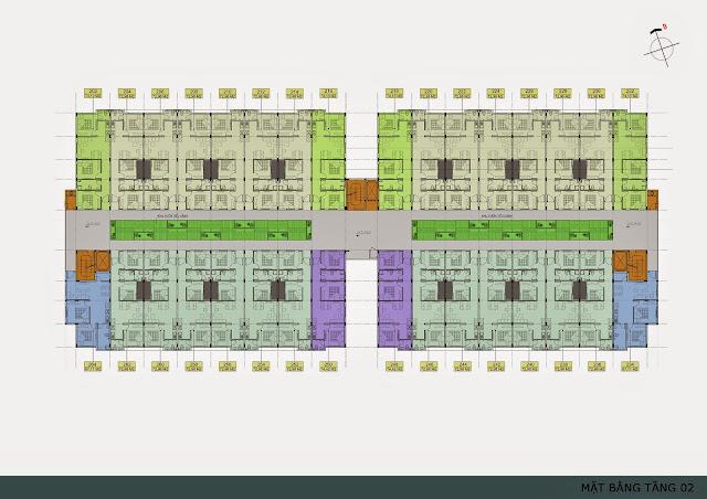 Mặt bằng tầng 2 chung cư Thanh Hà Cienco 5