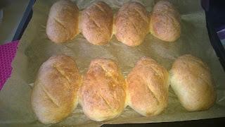 Baguette Teiglinge fertig gebacken