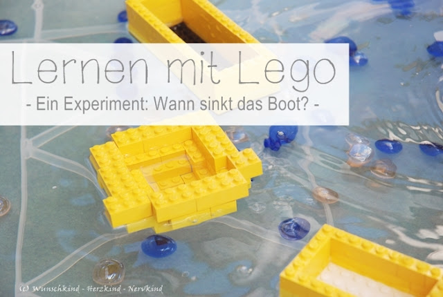 Lernen mit Lego! Ein kleines Experiment um mit Lego-Booten die Auftriebskraft des Wassers kennenzulernen. Wann sinkt das Boot?