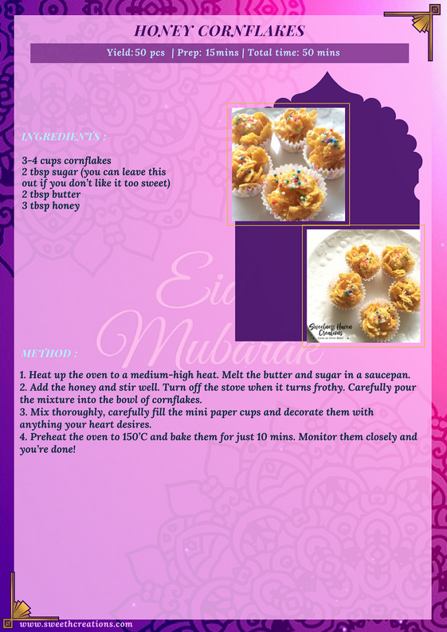 HONEY CORNFLAKES RECIPE