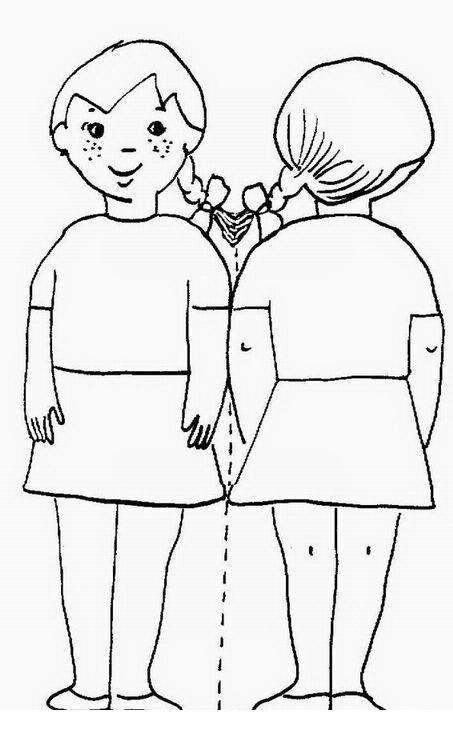 Silueta Del Cuerpo Mujer Para Colorear E Imprimir Imagui