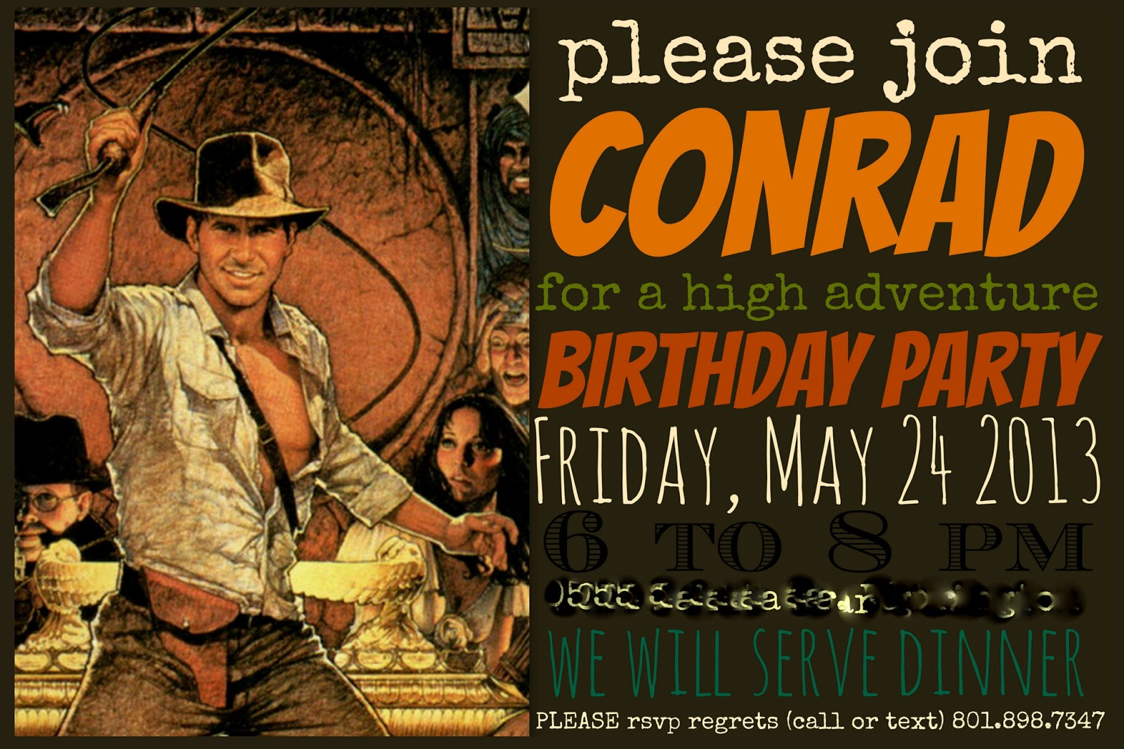 Birthday Invitation Near Me Restlessrisa: Indiana Jones Birthday Party