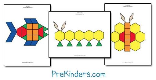 Pattern Block Mat Freebies Grade Onederful Extraordinary Pattern Block Mats