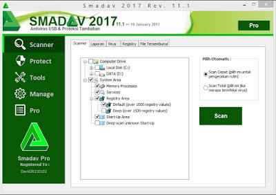 Smadav PRO Revisi 11.1 Terbaru 2017 Full Serial Number