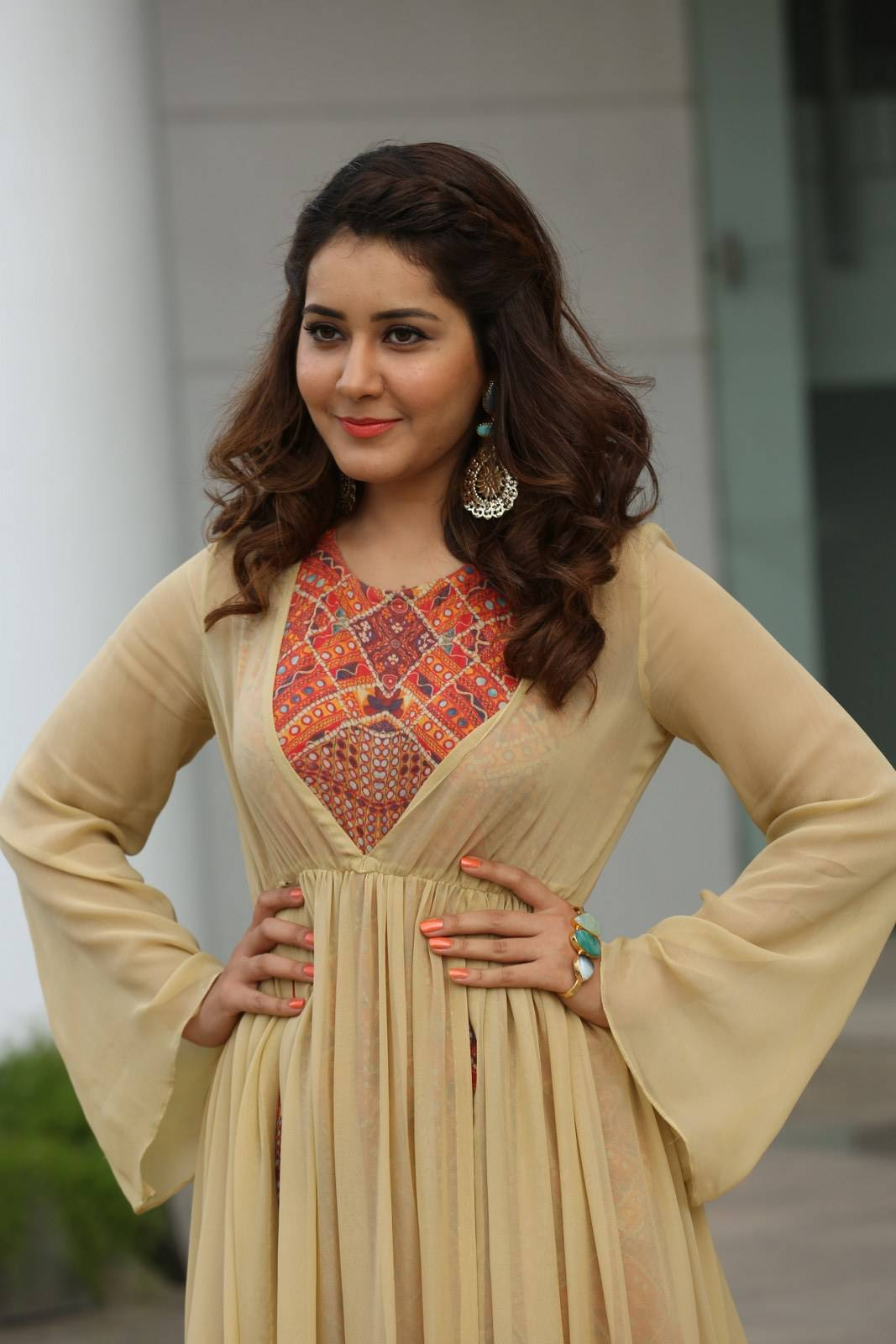 Rashi Khanna Latest Stills At Shivam Promotion