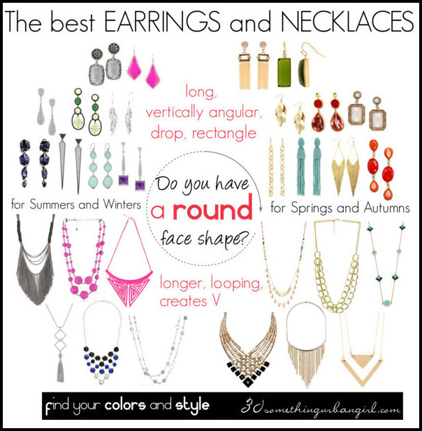 The best earrings and necklaces for round face shape